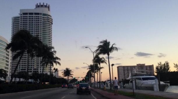 Coucher de soleil sur Miami